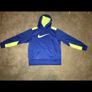 Nike Therma-fit Hoodie blue/ yellow size XL